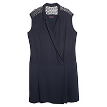 Buy Violeta by Mango Guipure Panel Dress, Navy Online at johnlewis.com