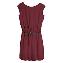 Buy Mango Back Button Detail Dress, Dark Red Online at johnlewis.com