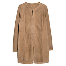 Buy Violeta by Mango Straight Cut Suede Jacket, Beige Online at johnlewis.com
