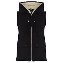 Buy Warehouse Ribbon Detail Gilet, Black Online at johnlewis.com