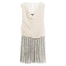 Buy Violeta by Mango Sequin Skirt Dress, Light Beige Online at johnlewis.com
