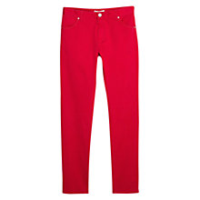 Buy Mango Slim-Fit Cotton Trousers, Bright Red Online at johnlewis.com
