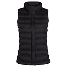 Buy Mango Waterproof Feather Down Gilet, Black Online at johnlewis.com