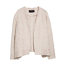 Buy Violeta by Mango Fantasy Jacquard Jacket, Pastel Pink Online at johnlewis.com