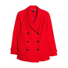 Buy Violeta by Mango Double Breasted Pea Coat, Bright Red Online at johnlewis.com