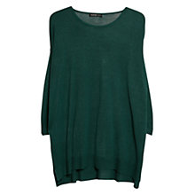 Buy Mango Fine Knit Oversize Jumper, Green Online at johnlewis.com