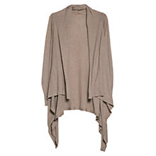 Buy Mango Ribbed Cotton Cardigan, Grey Online at johnlewis.com