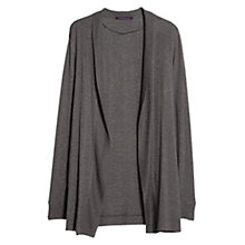 Buy Violeta by Mango Ribbed Detail Cardigan, Grey Online at johnlewis.com