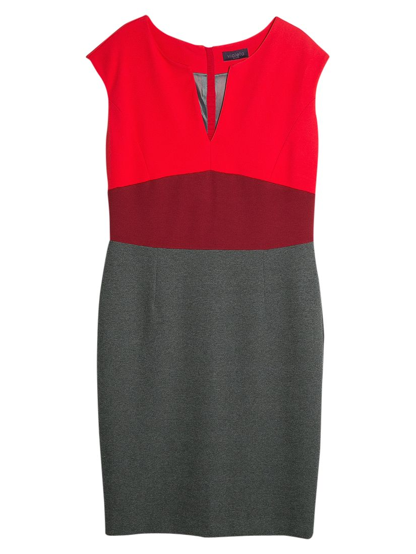 violeta by mango tricolour dress grey/red, violeta, mango, tricolour, dress, grey/red, violeta by mango, 20|14, clearance, womenswear offers, womens dresses offers, women, inactive womenswear, new reductions, womens dresses, special offers, 1645281