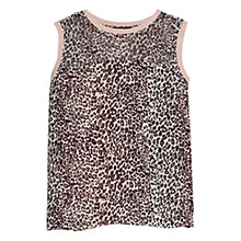 Buy Violeta by Mango Animal Print Blouse, Red/Brown Online at johnlewis.com