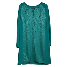 Buy Violeta by Mango Leopard Satin Panel Dress, Green Online at johnlewis.com