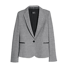 Buy Mango Houndstooth Wool Blazer, Medium Grey Online at johnlewis.com