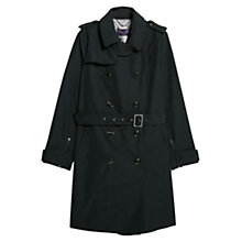 Buy Violeta by Mango Zipped Cuff Trench Coat, Navy Online at johnlewis.com