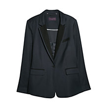 Buy Violeta by Mango Bi-Colour Structured Blazer, Navy Online at johnlewis.com