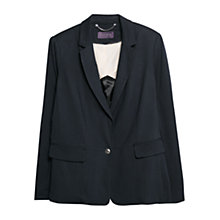 Buy Violeta by Mango Jersey Blazer, Navy Online at johnlewis.com