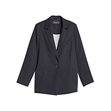 Buy Violeta by Mango Structured Tencel Blazer, Navy Online at johnlewis.com