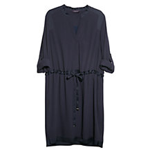 Buy Violeta by Mango Satin Edge Dress, Navy Online at johnlewis.com