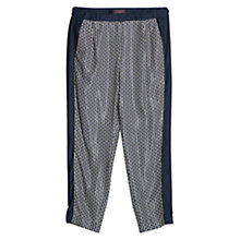 Buy Violeta by Mango Geometric Print Trousers, Navy Online at johnlewis.com