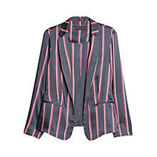 Buy Violeta by Mango Striped Twill Blazer, Navy Online at johnlewis.com