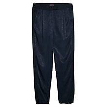 Buy Violeta by Mango Mixed Flowy Trousers, Navy Online at johnlewis.com