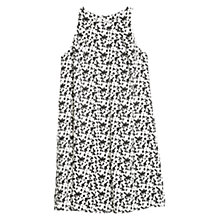 Buy Mango Monochrome Abstract Print Dress, Natural White Online at johnlewis.com