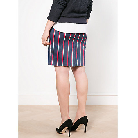 Buy Violeta by Mango Striped Skirt, Navy Online at johnlewis.com
