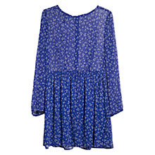 Buy Mango Ditsy Floral Print Skater Dress, Dark Blue Online at johnlewis.com