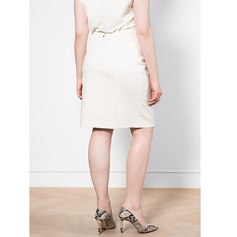 Buy Violeta by Mango Jacquard Pencil Skirt, Natural White Online at johnlewis.com