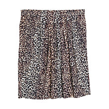 Buy Violeta by Mango Leopard Print Skirt, Rust Online at johnlewis.com