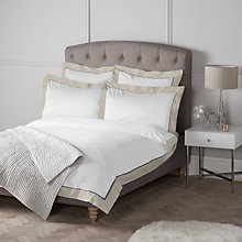Buy John Lewis Padova Border Egyptian Cotton Bedding, White/Grey Online at johnlewis.com