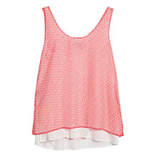 Buy Mango Double Layer Top, Light Pastel Orange Online at johnlewis.com