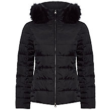 Buy Jaeger Fur Trim Short Puffa Coat Online at johnlewis.com