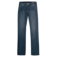 Buy Mango Christy Straight Slim-Fit Jeans, Medium Blue Online at johnlewis.com