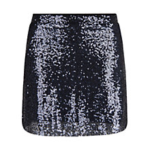 Buy Mango Sequin Mini Skirt, Navy Online at johnlewis.com