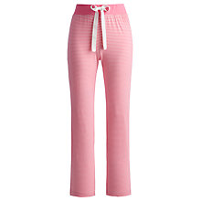 Buy Joules Cora Stripe Pyjama Bottoms, Pink Online at johnlewis.com