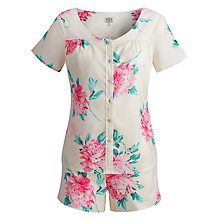 Buy Joules Josette Floral Short Pyjamas, Ivory Online at johnlewis.com