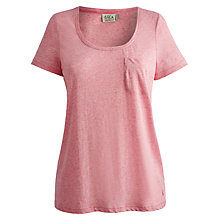 Buy Joules Nisha Loungewear Tee, Pink Online at johnlewis.com