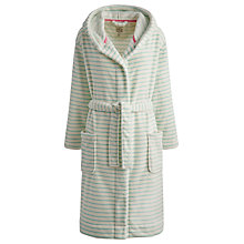 Buy Joules Rita Stripe Robe, Turquoise / White Online at johnlewis.com