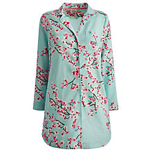 Buy Joules Jenna Floral Nightshirt, Turquoise Online at johnlewis.com