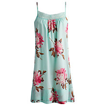 Buy Joules Faye Floral Nightdress, Turquoise Online at johnlewis.com
