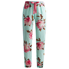 Buy Joules Lillie Floral Cuff Pyjama Pants, Turquoise Online at johnlewis.com
