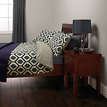 Buy John Lewis Indah Duvet Cover and Pillowcase Set, Indigo Online at johnlewis.com