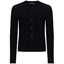 Buy Jaeger Short Cashmere Cardigan, Black Online at johnlewis.com