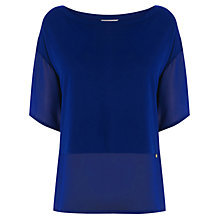 Buy Wishbone Delphine Top, Blue Online at johnlewis.com