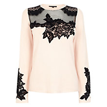 Buy Coast Zera Knit Top, Blush Online at johnlewis.com