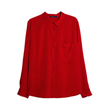Buy Violeta by Mango Flowy Blouse, Bright Red Online at johnlewis.com