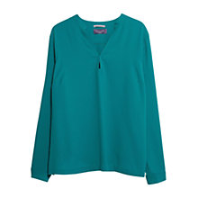 Buy Violeta Flowy Blouse, Dark Green Online at johnlewis.com