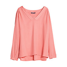 Buy Violeta by Mango Satin Neckline Blouse, Medium Pink Online at johnlewis.com