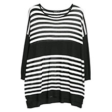 Buy Mango Horizontal Stripe Jumper, Black Online at johnlewis.com