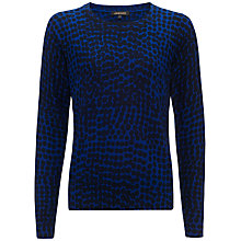 Buy Jaeger Abstract Jumper, Navy / True Blue Online at johnlewis.com